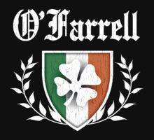 O'Farrell Family Shamrock Crest (vintage distressed) Kids Tee