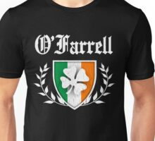 O'Farrell Family Shamrock Crest (vintage distressed) Unisex T-Shirt