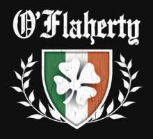 O'Flaherty Family Shamrock Crest (vintage distressed) Kids Clothes