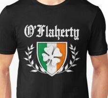 O'Flaherty Family Shamrock Crest (vintage distressed) Unisex T-Shirt