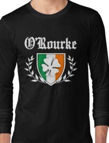 O'Rourke Family Shamrock Crest (vintage distressed) Long Sleeve T-Shirt