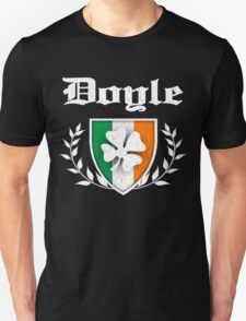 Doyle Family Shamrock Crest (vintage distressed) Unisex T-Shirt