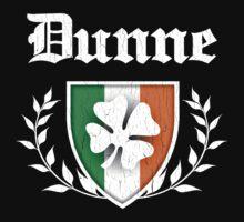 Dunne Family Shamrock Crest (vintage distressed) Kids Tee