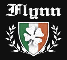 Flynn Family Shamrock Crest (vintage distressed) Kids Clothes
