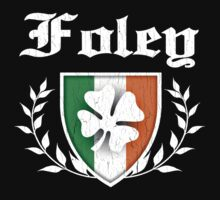 Foley Family Shamrock Crest (vintage distressed) Kids Clothes