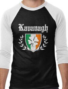 Kavanagh Family Shamrock Crest (vintage distressed) Men's Baseball ¾ T-Shirt