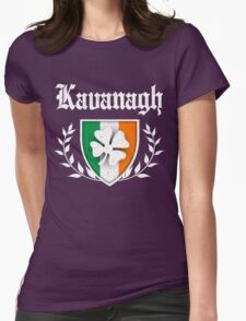 Kavanagh Family Shamrock Crest (vintage distressed) Womens Fitted T-Shirt
