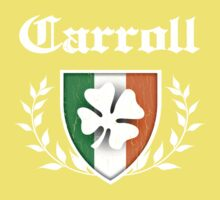 Carroll Family Shamrock Crest (vintage distressed) Kids Clothes