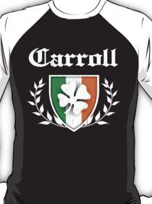 Carroll Family Shamrock Crest (vintage distressed) T-Shirt