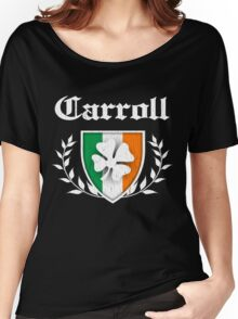 Carroll Family Shamrock Crest (vintage distressed) Women's Relaxed Fit T-Shirt