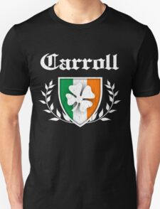 Carroll Family Shamrock Crest (vintage distressed) T-Shirt