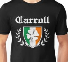 Carroll Family Shamrock Crest (vintage distressed) Unisex T-Shirt