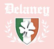 Delaney Family Shamrock Crest (vintage distressed) Kids Clothes