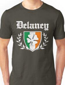 Delaney Family Shamrock Crest (vintage distressed) Unisex T-Shirt