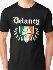 Delaney Family Shamrock Crest (vintage distressed) T-Shirt