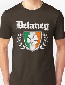 Delaney Family Shamrock Crest (vintage distressed) T-Shirt