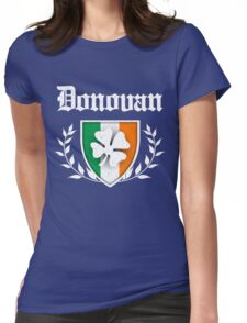 Donovan Family Shamrock Crest (vintage distressed) Womens Fitted T-Shirt