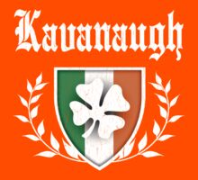 Kavanaugh Family Shamrock Crest (vintage distressed) Kids Clothes