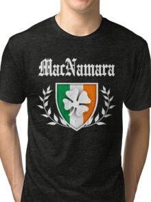 MacNamara Family Shamrock Crest (vintage distressed) Tri-blend T-Shirt