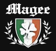 Magee Family Shamrock Crest (vintage distressed) Kids Clothes