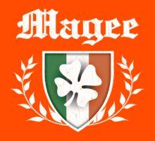 Magee Family Shamrock Crest (vintage distressed) Kids Tee