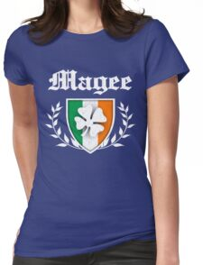 Magee Family Shamrock Crest (vintage distressed) Womens Fitted T-Shirt
