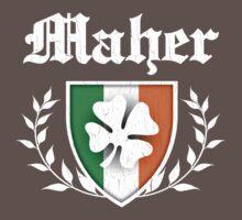 Maher Family Shamrock Crest (vintage distressed) Kids Clothes