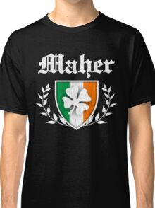 Maher Family Shamrock Crest (vintage distressed) Classic T-Shirt