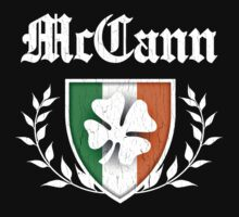 McCann Family Shamrock Crest (vintage distressed) Kids Clothes