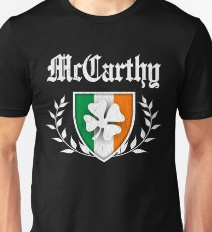 McCarthy Family Shamrock Crest (vintage distressed) Unisex T-Shirt