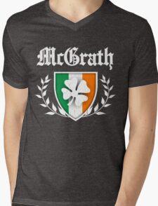 McGrath Family Shamrock Crest (vintage distressed) Mens V-Neck T-Shirt