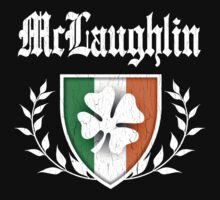 McLaughlin Family Shamrock Crest (vintage distressed) Kids Clothes