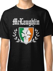 McLaughlin Family Shamrock Crest (vintage distressed) Classic T-Shirt