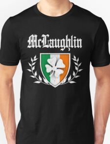 McLaughlin Family Shamrock Crest (vintage distressed) T-Shirt