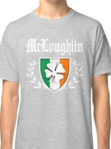 McLoughlin Family Shamrock Crest (vintage distressed) Classic T-Shirt