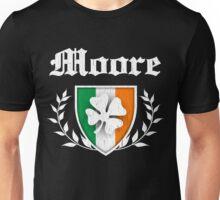 Moore Family Shamrock Crest (vintage distressed) Unisex T-Shirt
