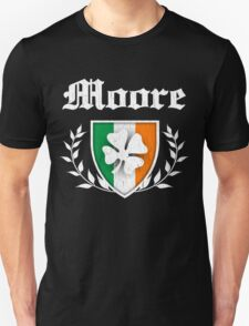 Moore Family Shamrock Crest (vintage distressed) T-Shirt