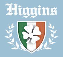 Higgins Family Shamrock Crest (vintage distressed) One Piece - Short Sleeve