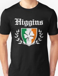 Higgins Family Shamrock Crest (vintage distressed) T-Shirt