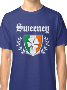 Sweeney Family Shamrock Crest (vintage distressed) Classic T-Shirt
