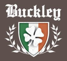 Buckley Family Shamrock Crest (vintage distressed) One Piece - Short Sleeve