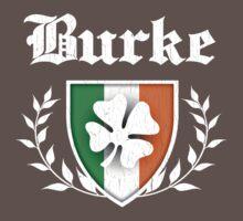 Burke Family Shamrock Crest (vintage distressed) Kids Clothes