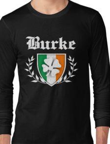 Burke Family Shamrock Crest (vintage distressed) Long Sleeve T-Shirt
