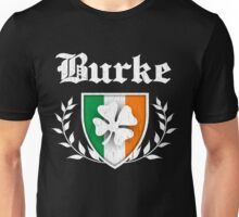 Burke Family Shamrock Crest (vintage distressed) Unisex T-Shirt