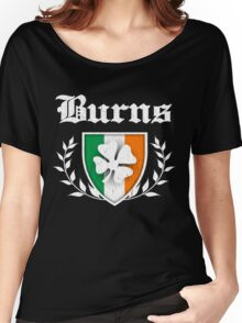 Burns Family Shamrock Crest (vintage distressed) Women's Relaxed Fit T-Shirt