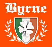 Byrne Family Shamrock Crest (vintage distressed) Kids Tee