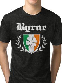 Byrne Family Shamrock Crest (vintage distressed) Tri-blend T-Shirt