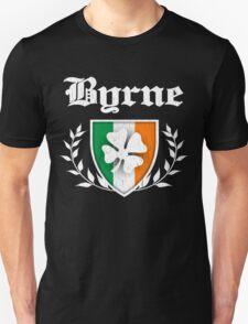Byrne Family Shamrock Crest (vintage distressed) Unisex T-Shirt