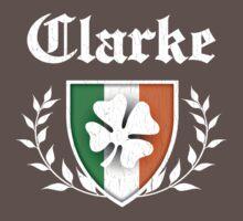 Clarke Family Shamrock Crest (vintage distressed) Kids Clothes