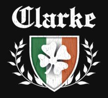 Clarke Family Shamrock Crest (vintage distressed) Kids Clothes